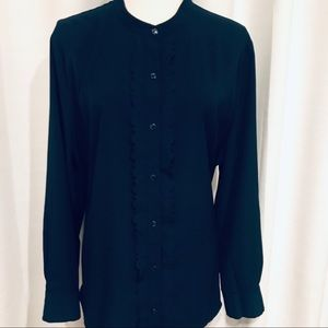 Banana Republic Navy blue long sleeve blouse XL